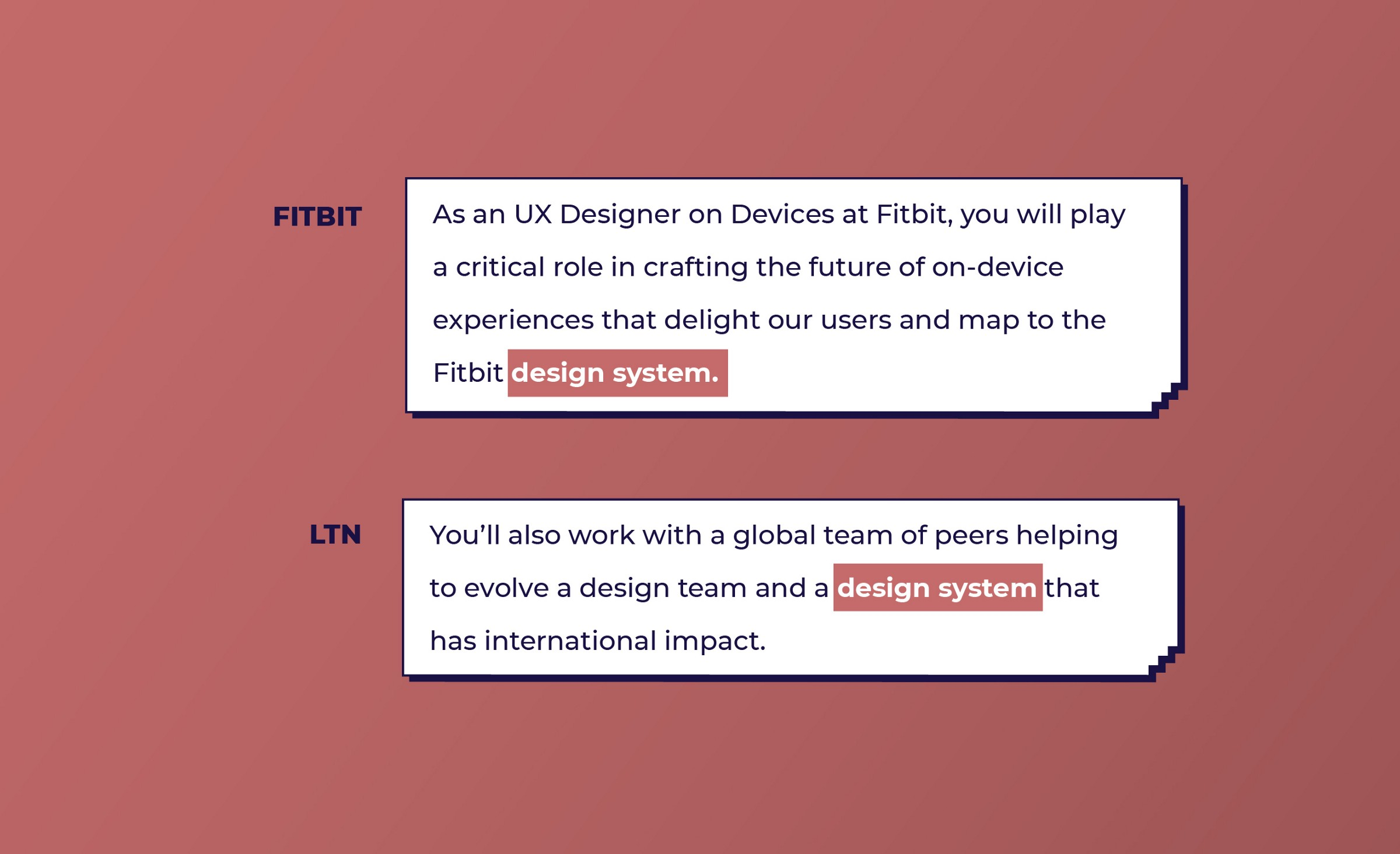 Fitbit and LTN look for Design System work from UX designers