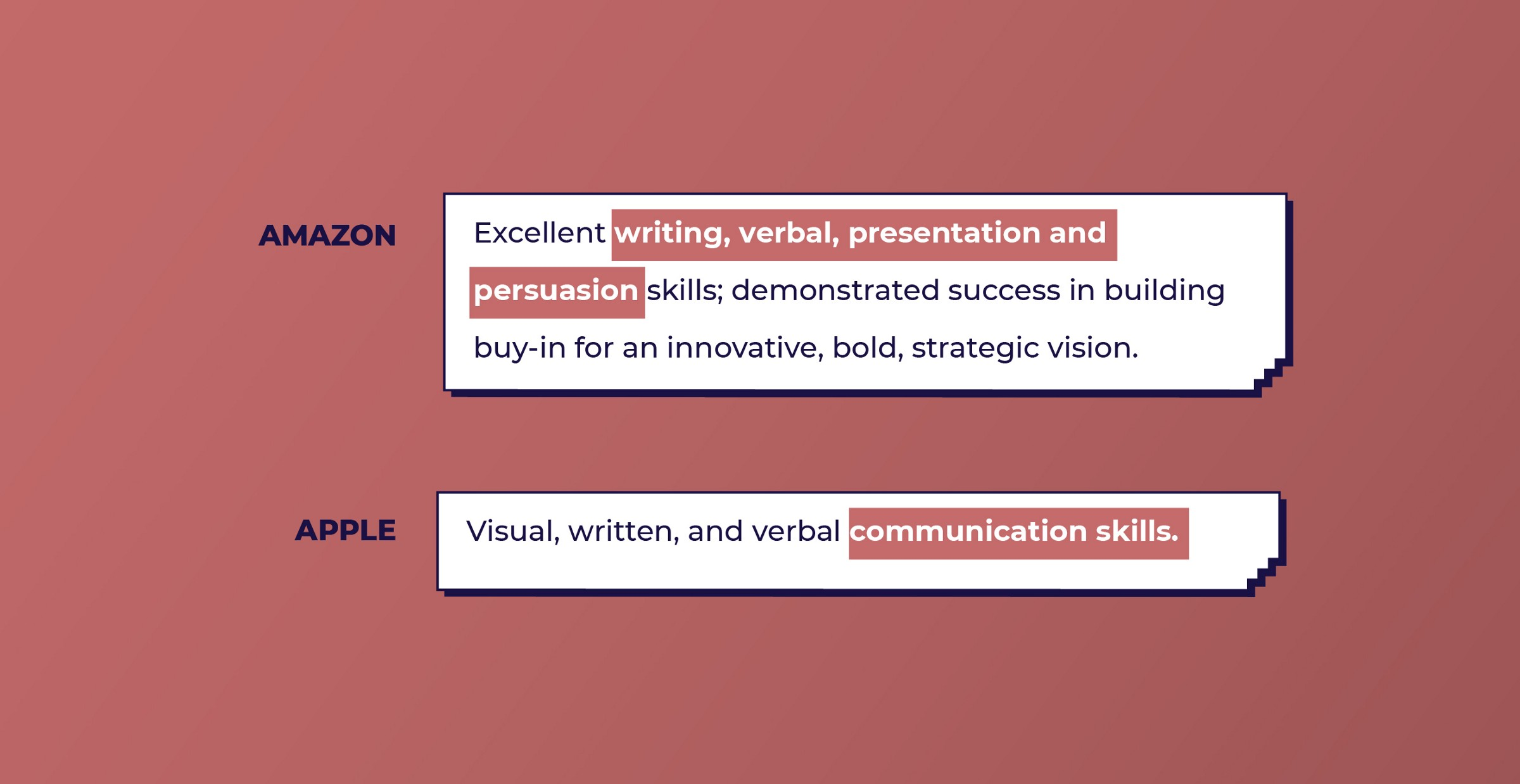 Amazon and Apple look for Communication skills from UX designers