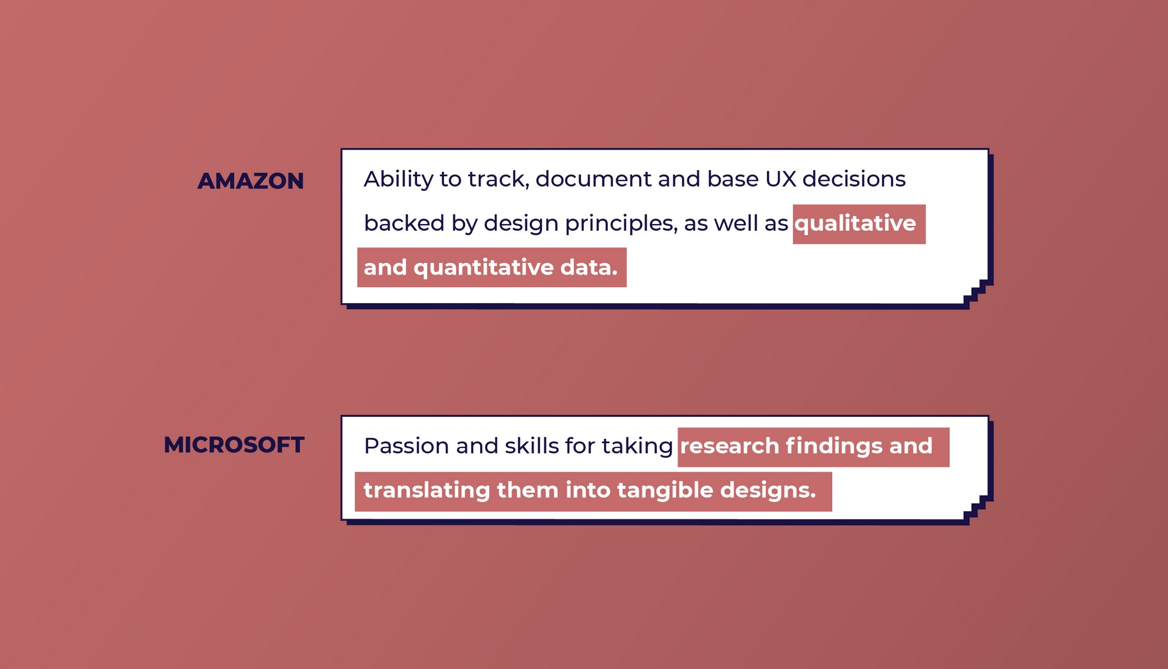 Amazon and Microsoft look for Data-driven design skills from UX designers