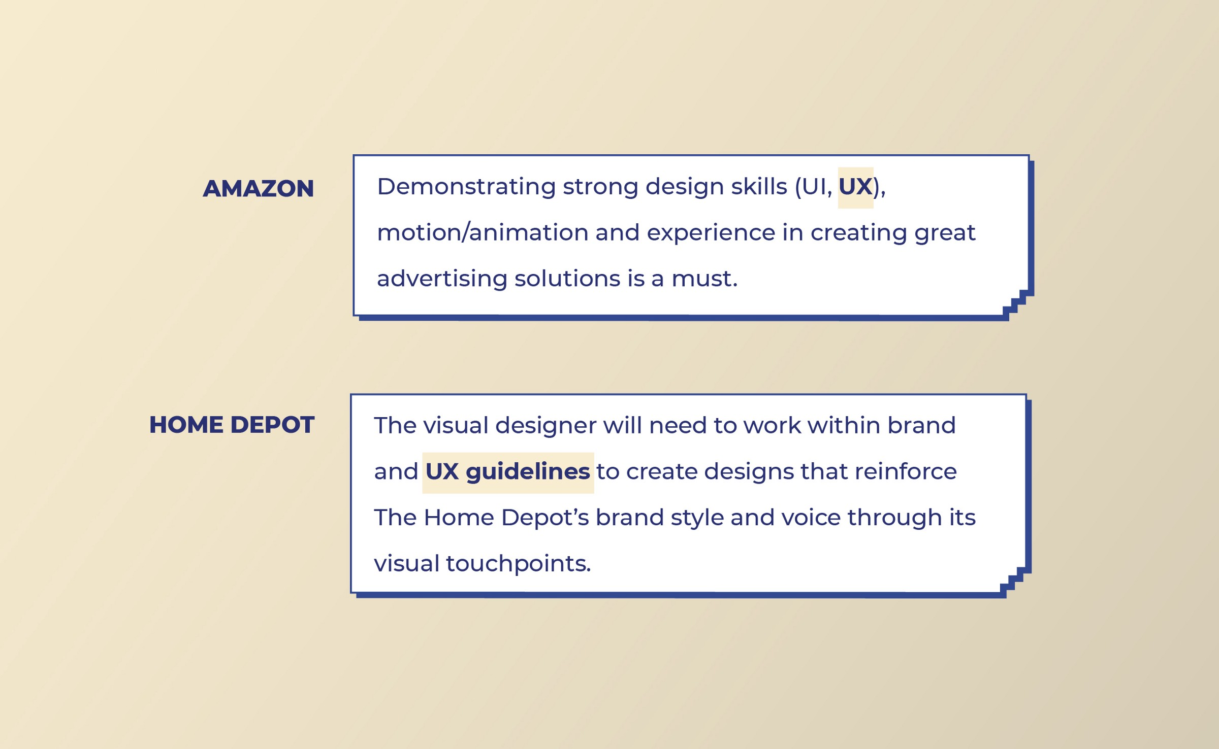 Amazon and Home Depot look for UX work from Visual designers