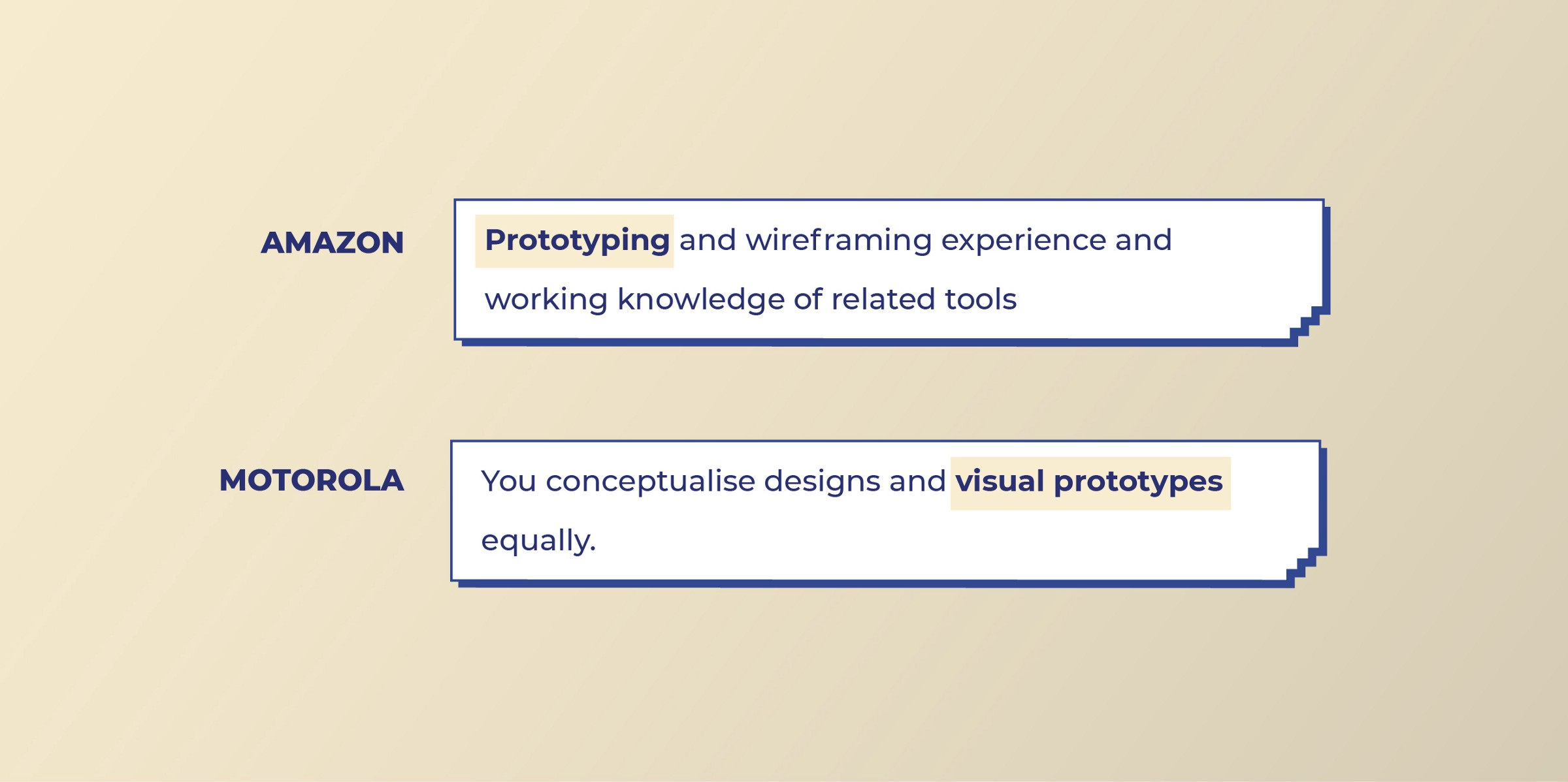 Amazon and Motorola look for Prototyping work from Visual designers