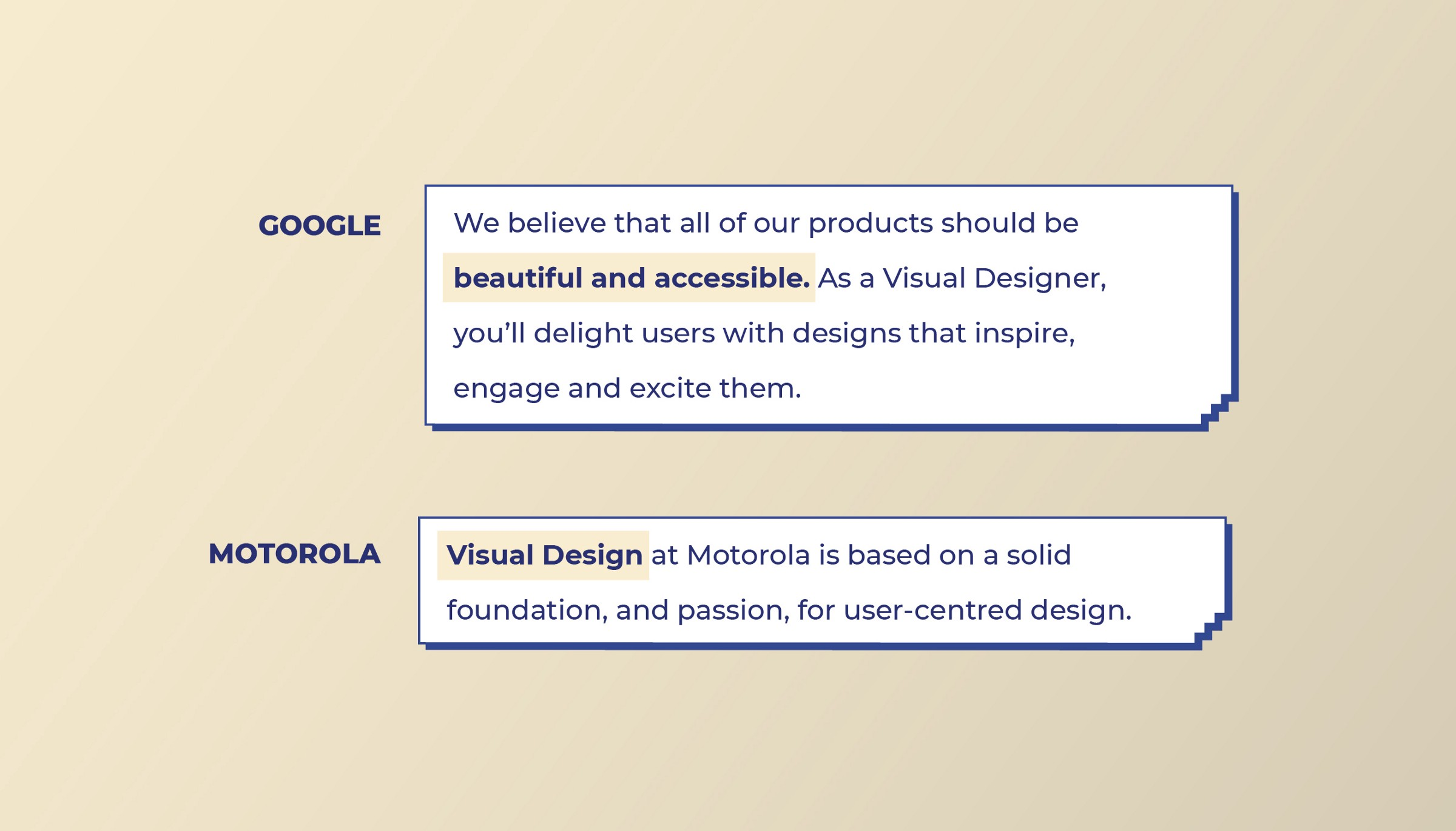 Google and Motorola look for Visual Design skills from Visual designers