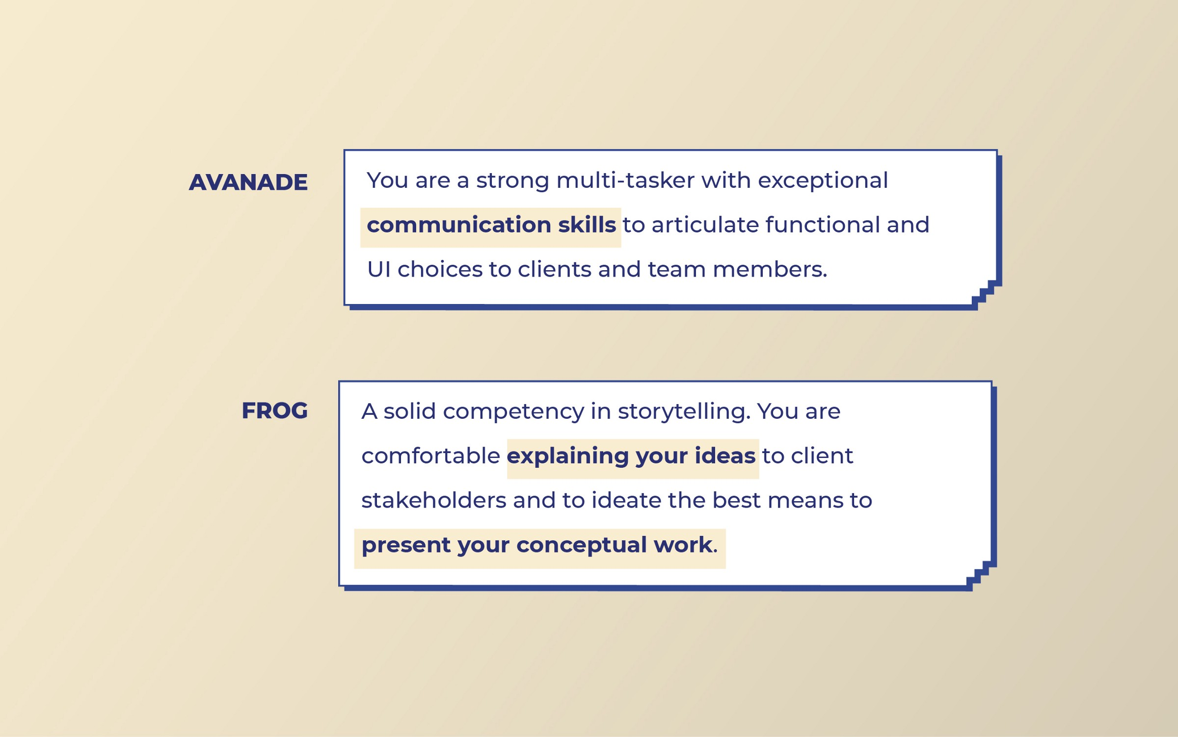 Avanade and Frog look for Communication skills from Visual designers