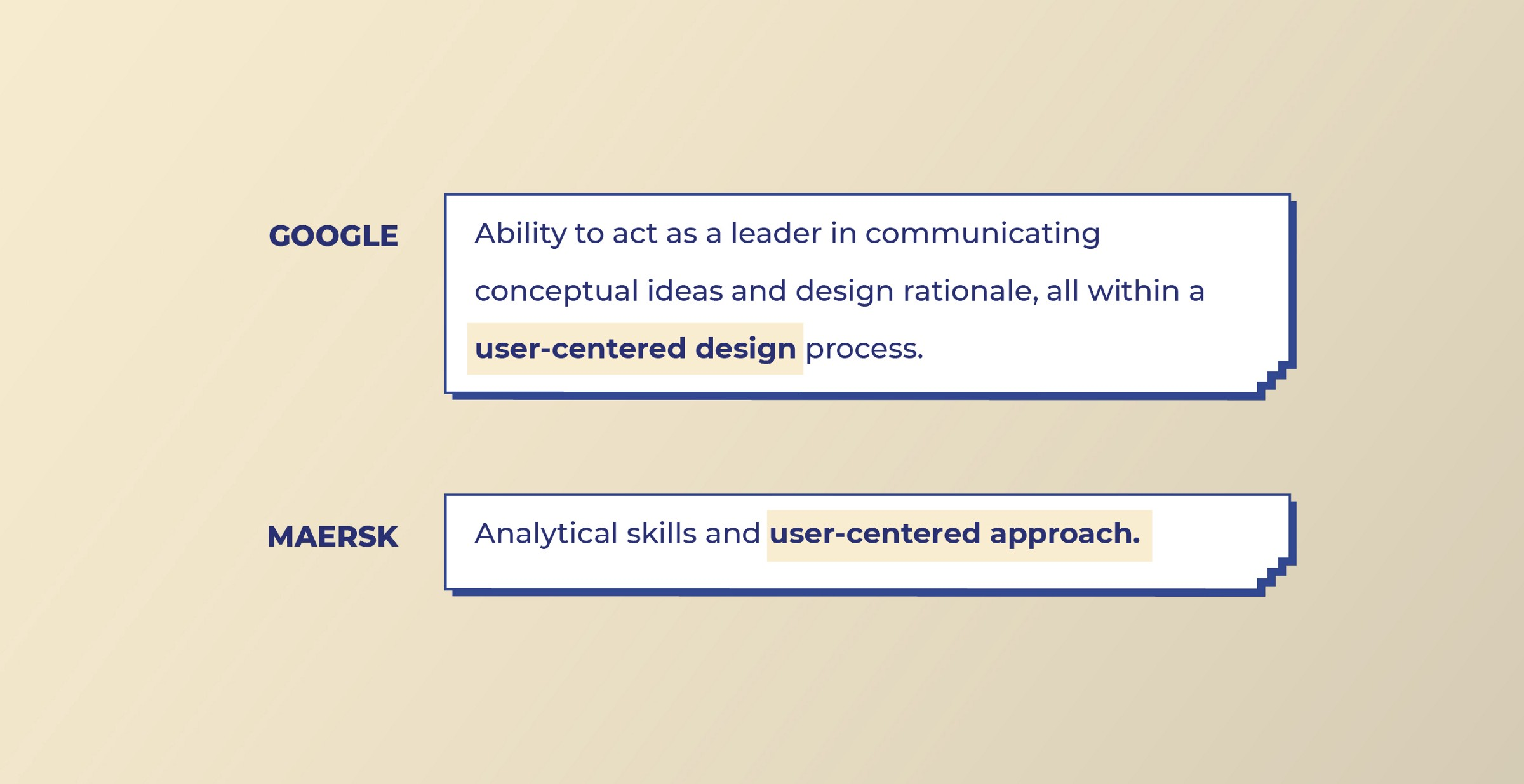 Google and Maers look for User-centered design skills from Visual designers