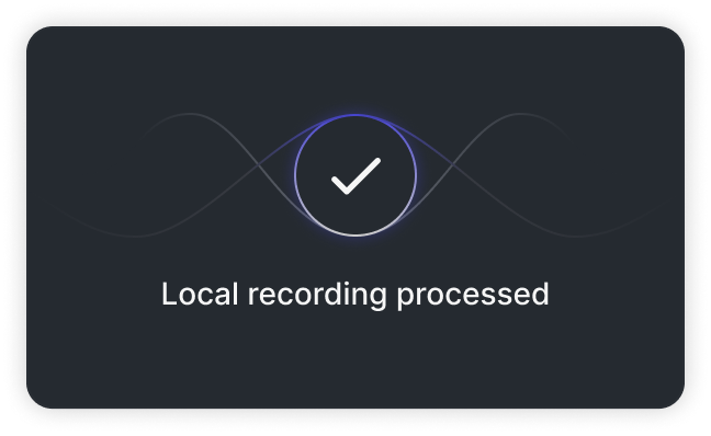 Local Recording Processed - Animation
