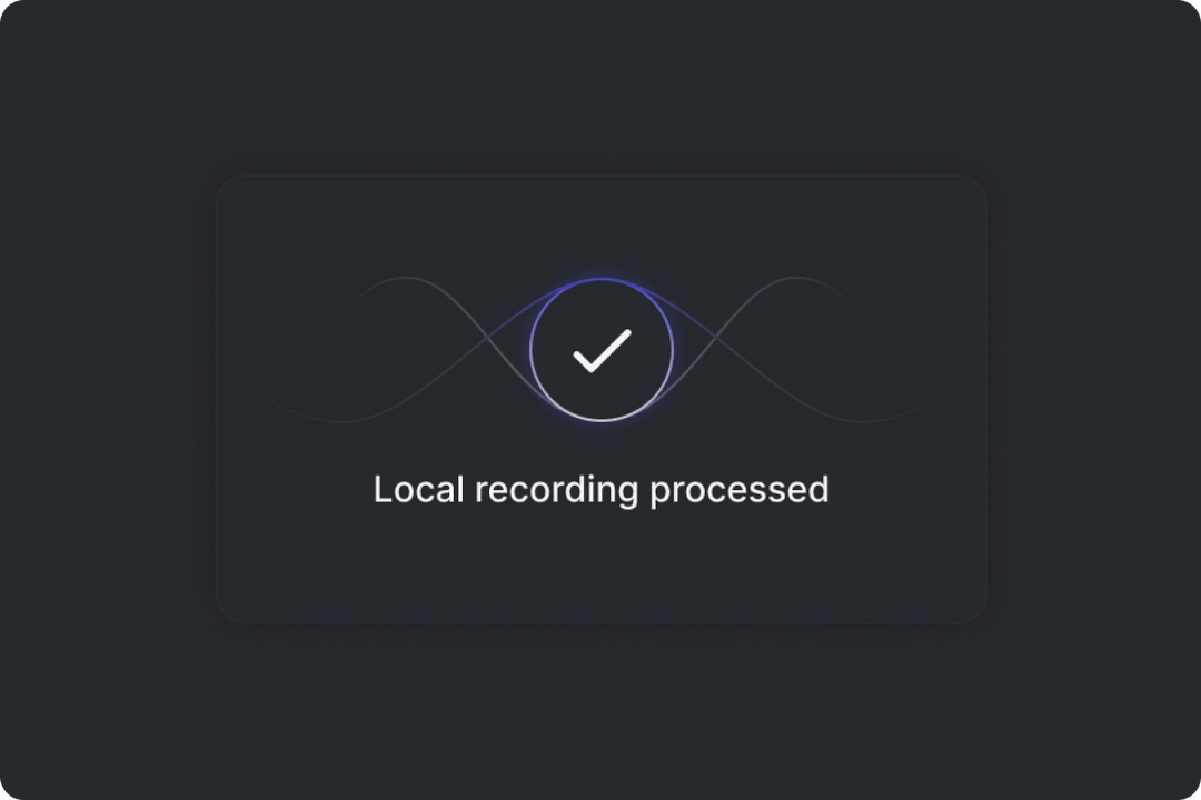 visual showing local recording engine