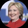 round headshot Hillary Clinton