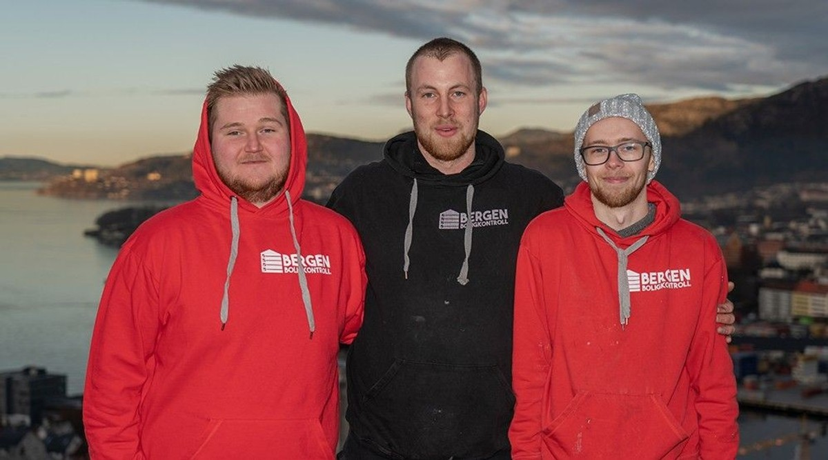 This is an image that shows the Bergen Boligkontroll team.