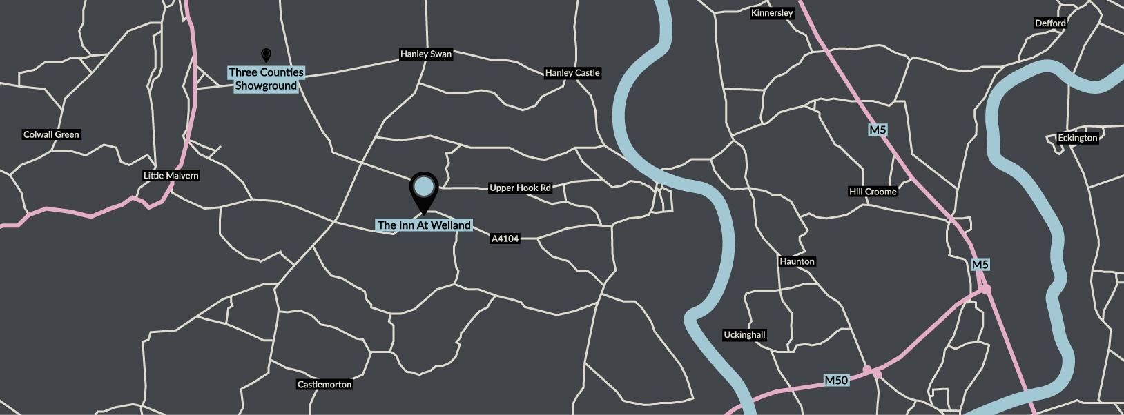 The Inn At Welland Map