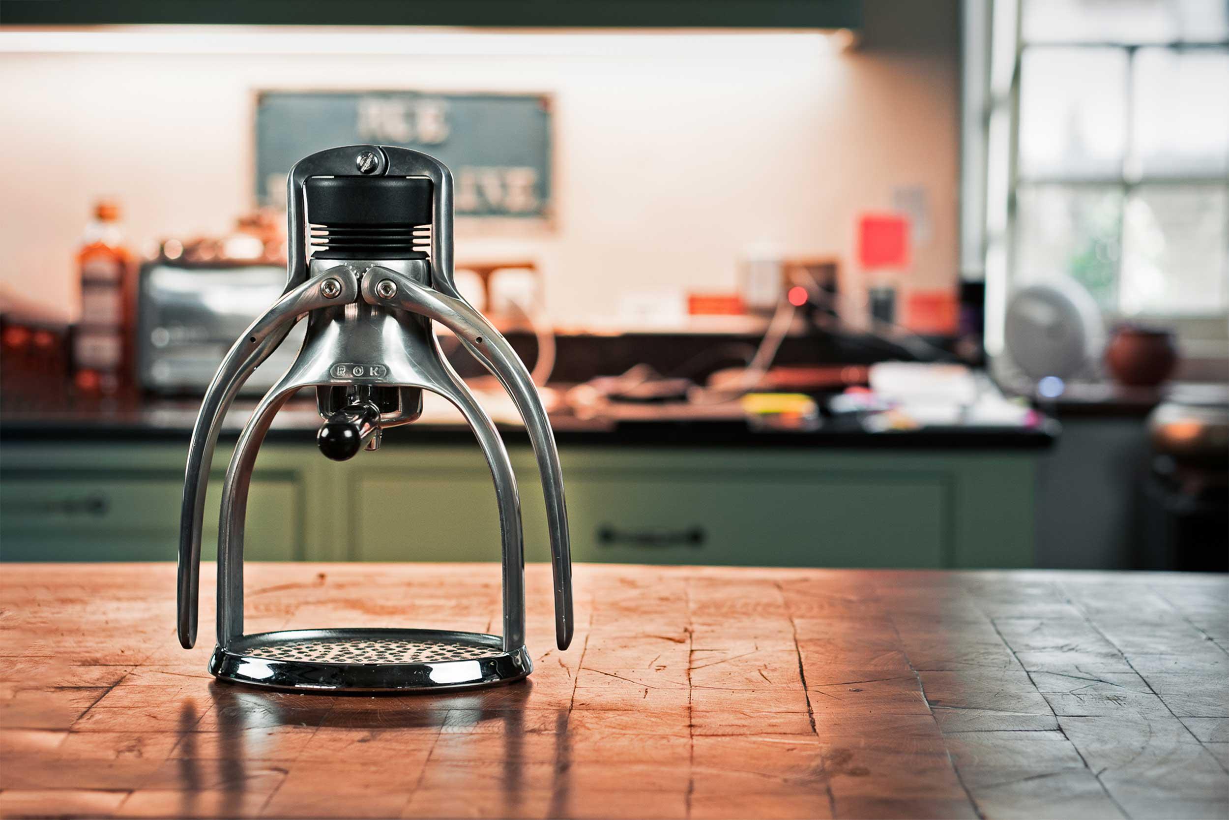 ROK EspressoGC on kitchen counter