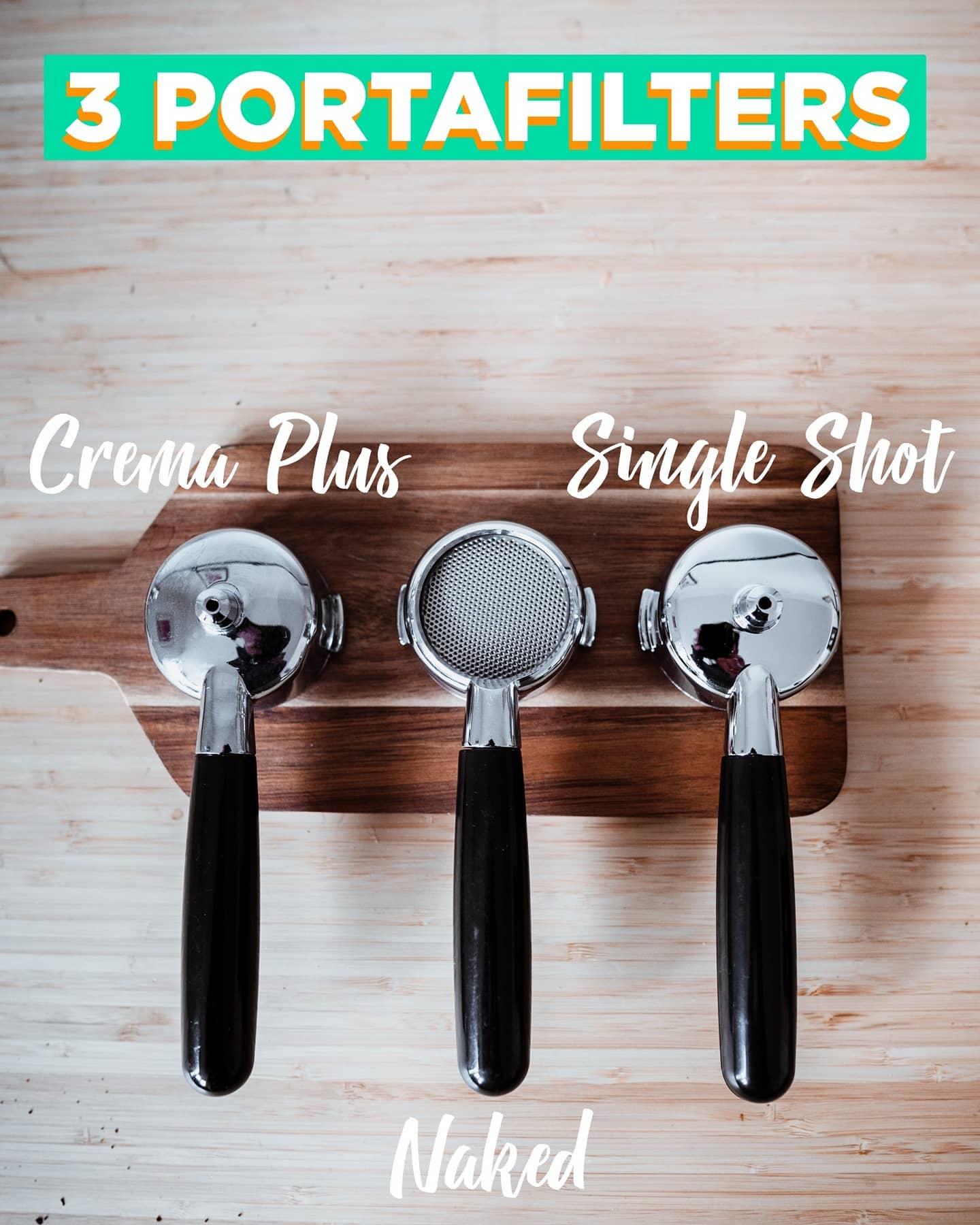 Welchen Portafilter verwenden Sie am liebsten? Wir lieben den Crema Plus, weil er es so einfach macht!   Lassen Sie uns Ihre Wahl wissen 🤔🤔!