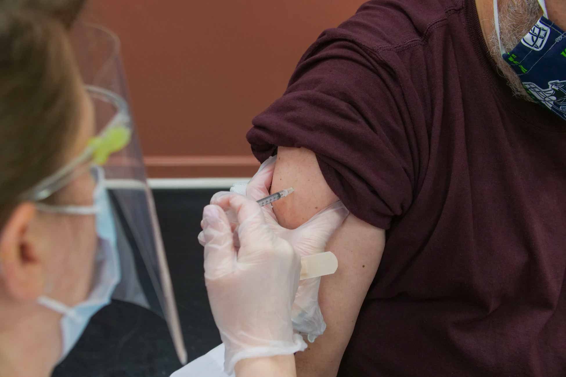 image of person being vaccinated