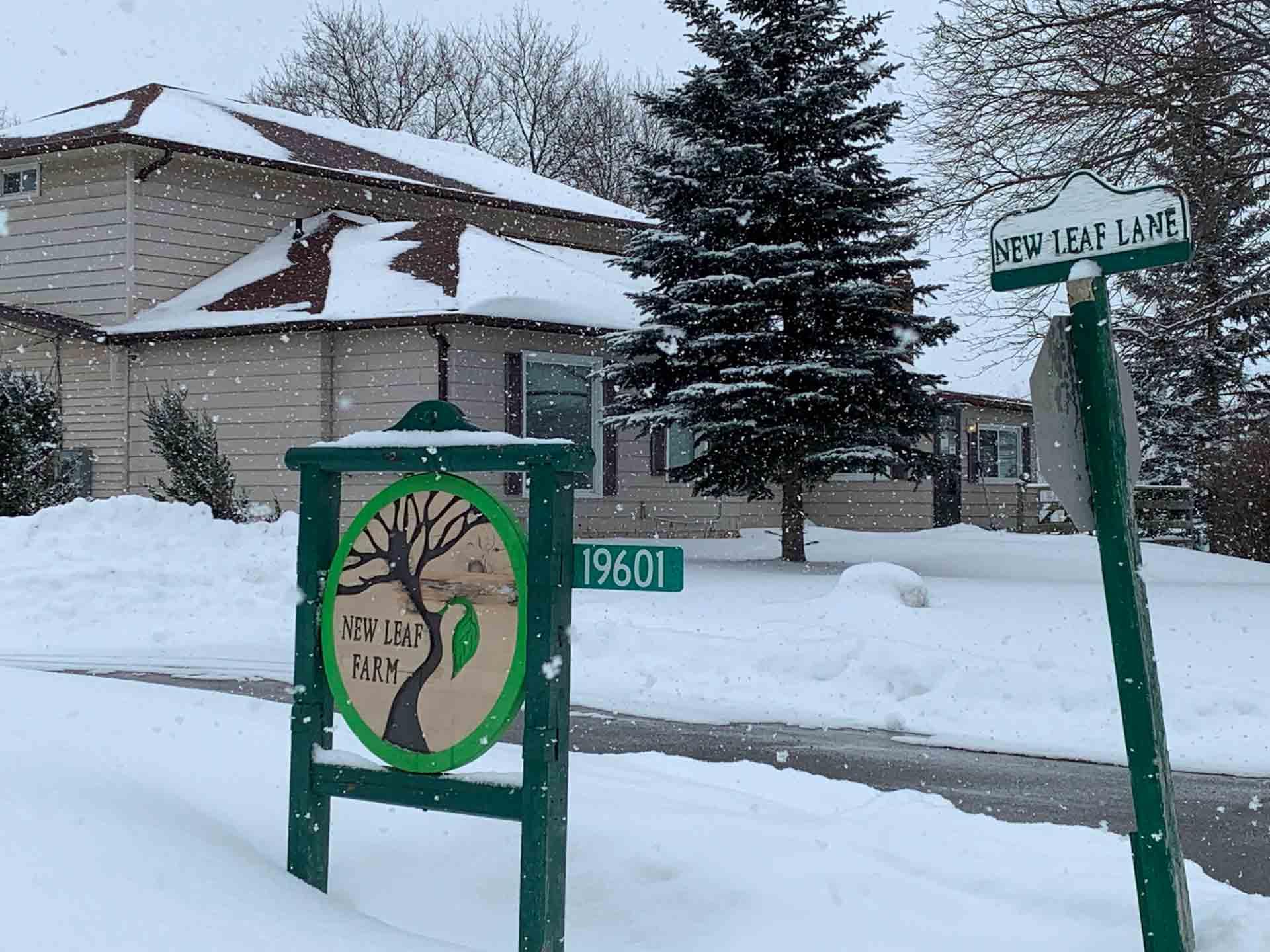 New Leaf Care home sign