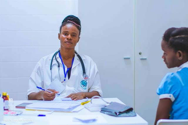 nurses doing paperwork