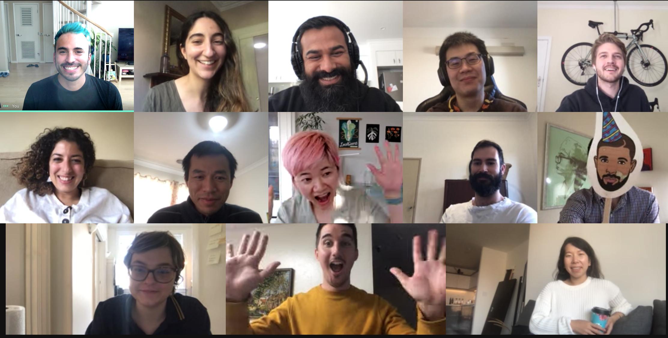 Celebrating birthdays via video conference