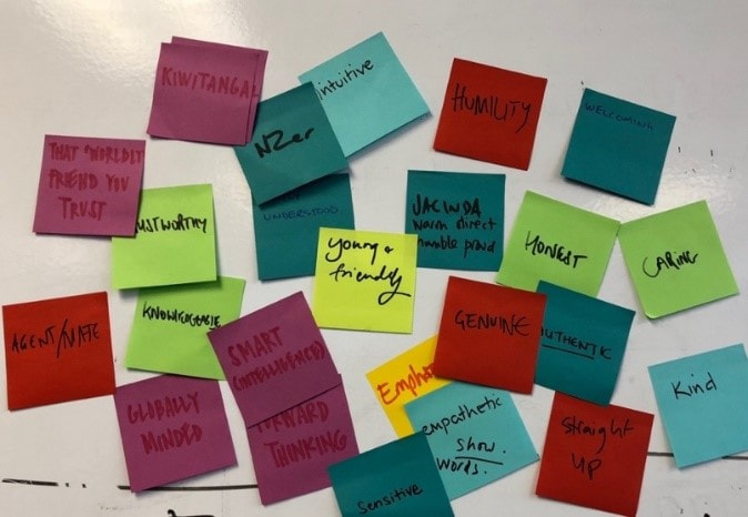 post it notes from workshop