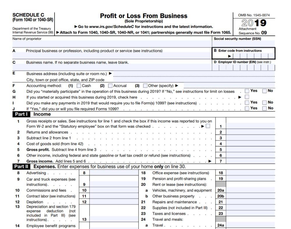 Form 1040 Schedule C