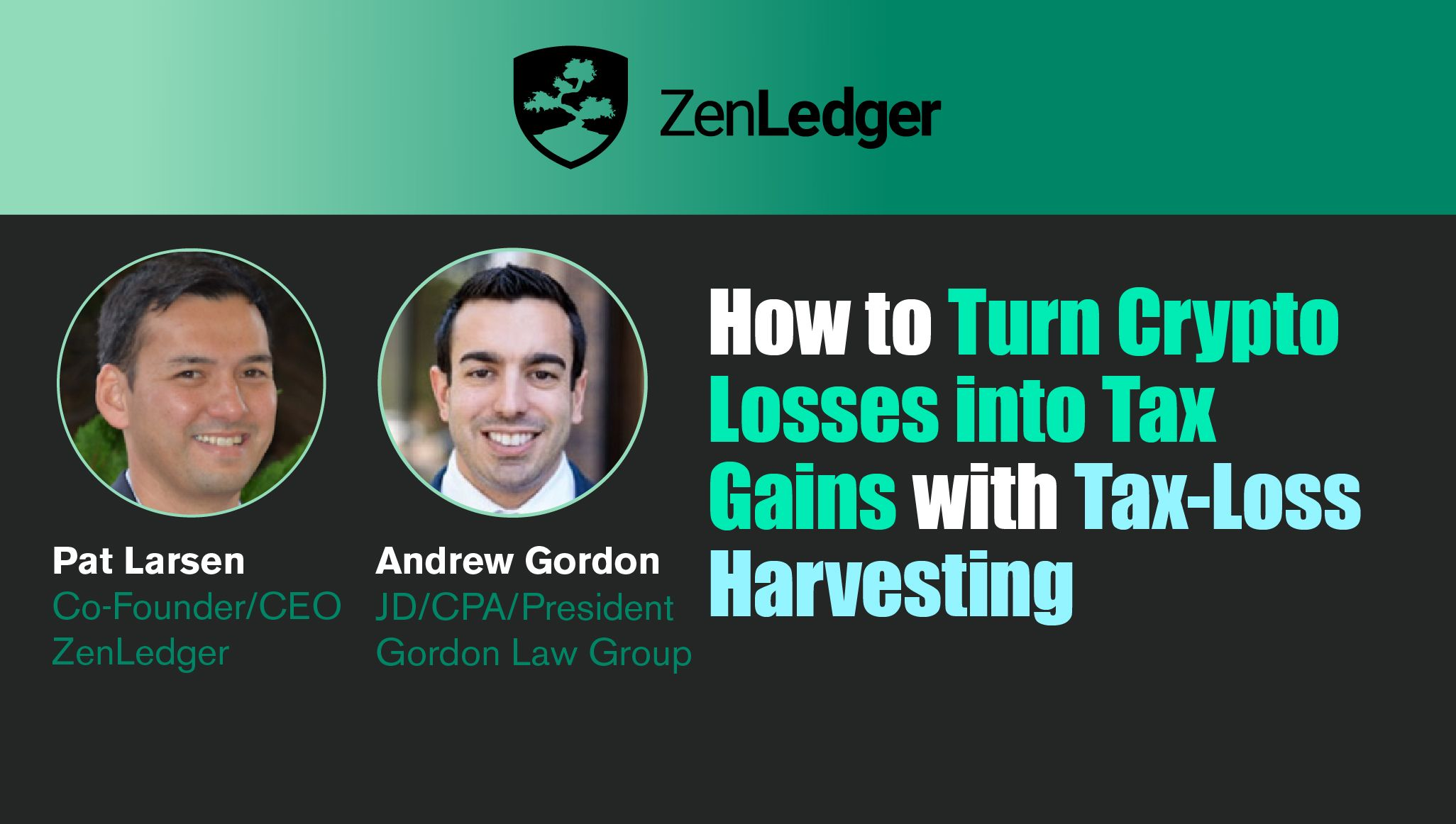 How to Turn Crypto Losses into Tax Gains Webinar
