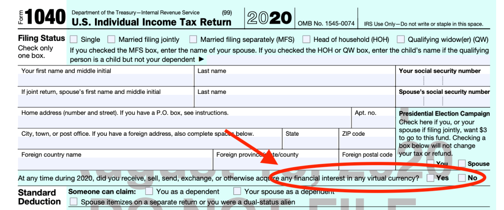 Filing The Cryptocurrency Taxes