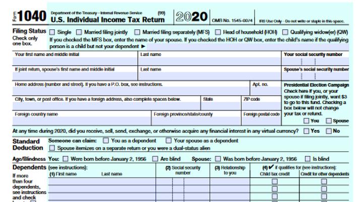 Form 1040 2020