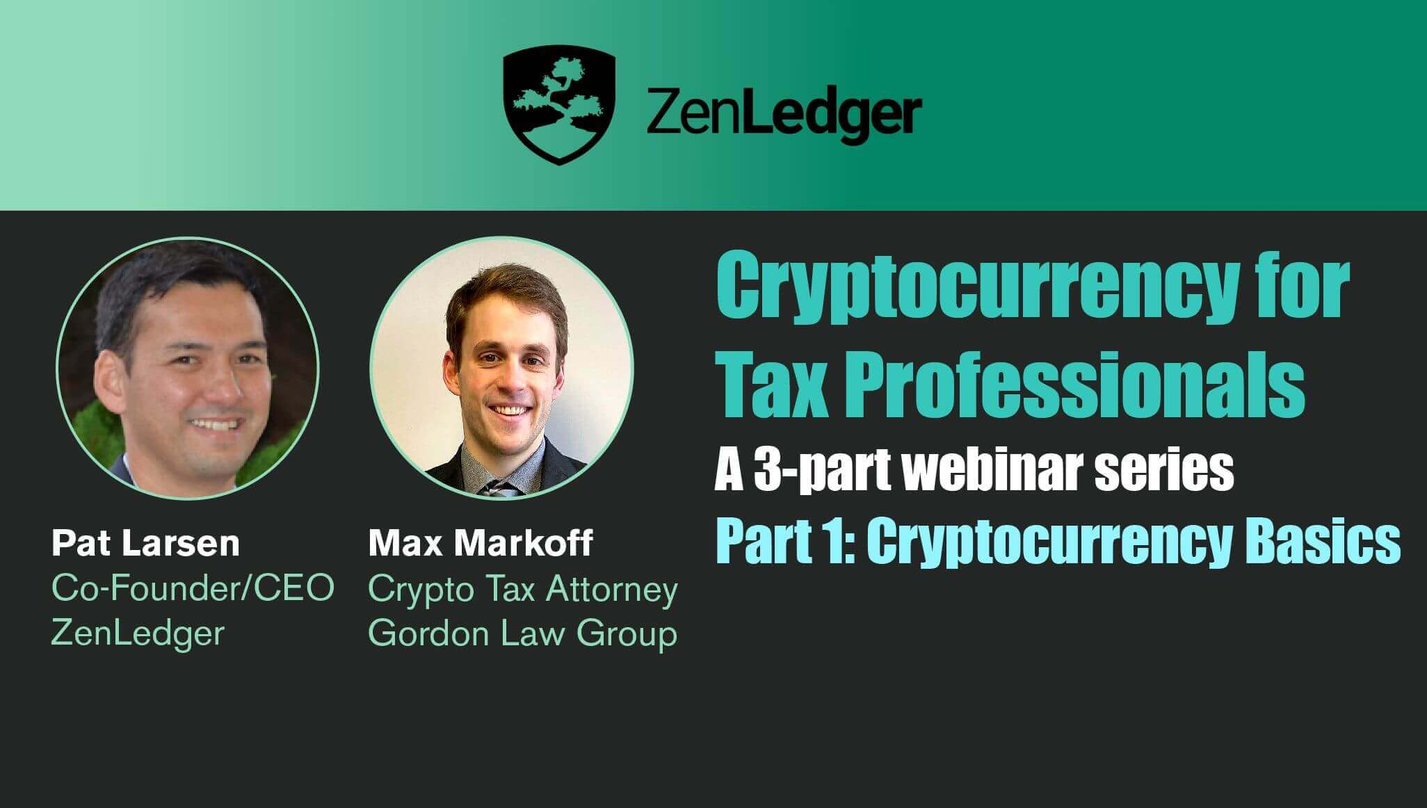 Cryptocurrency 101 Webinar for Tax Professionals
