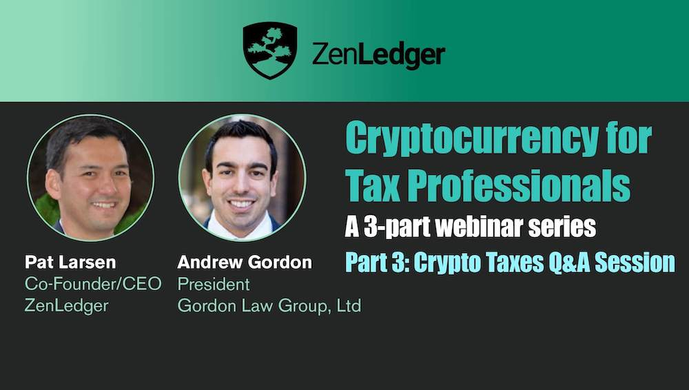 Crypto Taxes Webinar for Tax Professionals
