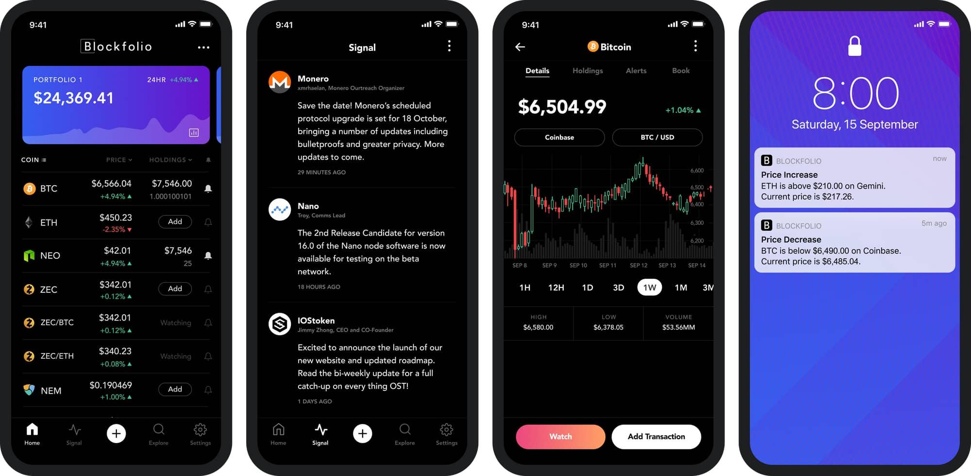 simple crypto portfolio tracker