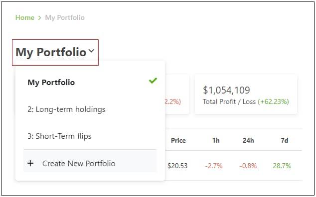 coingecko crypto portfolio tracker