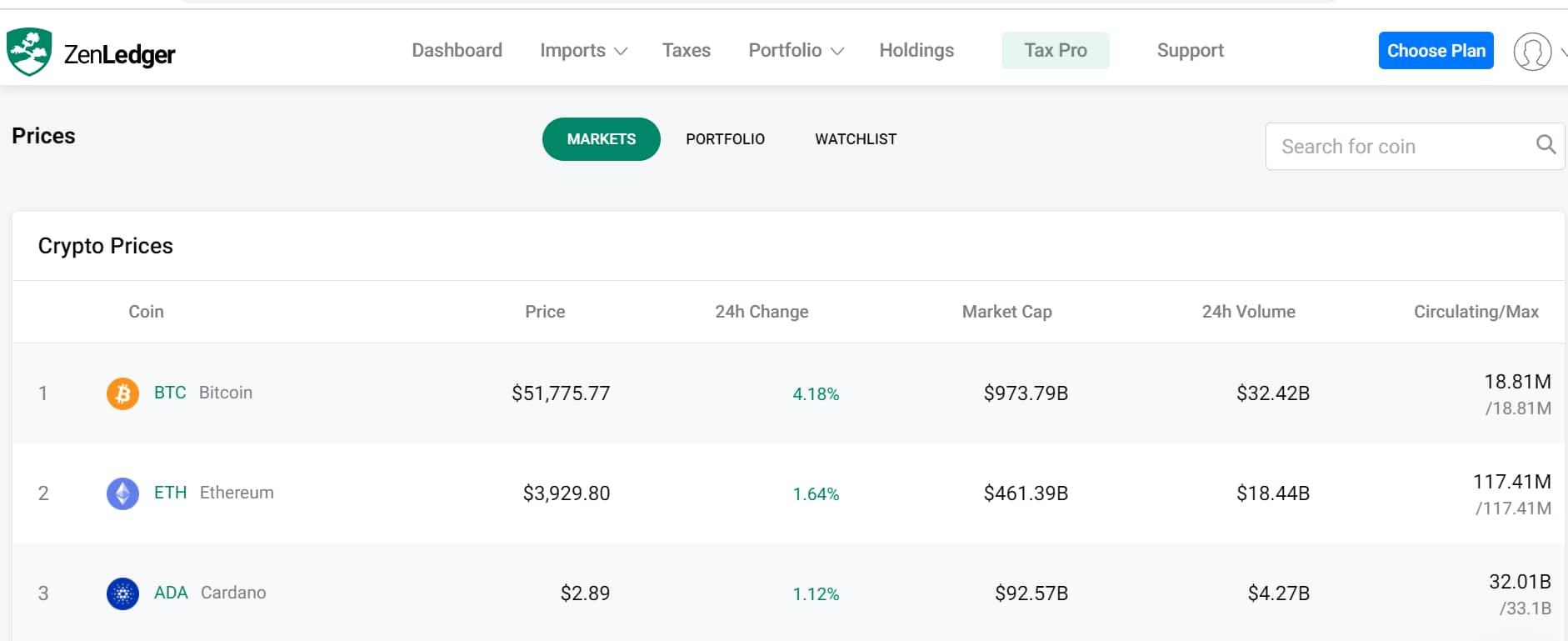 Zenledger crypto portfolio tracker