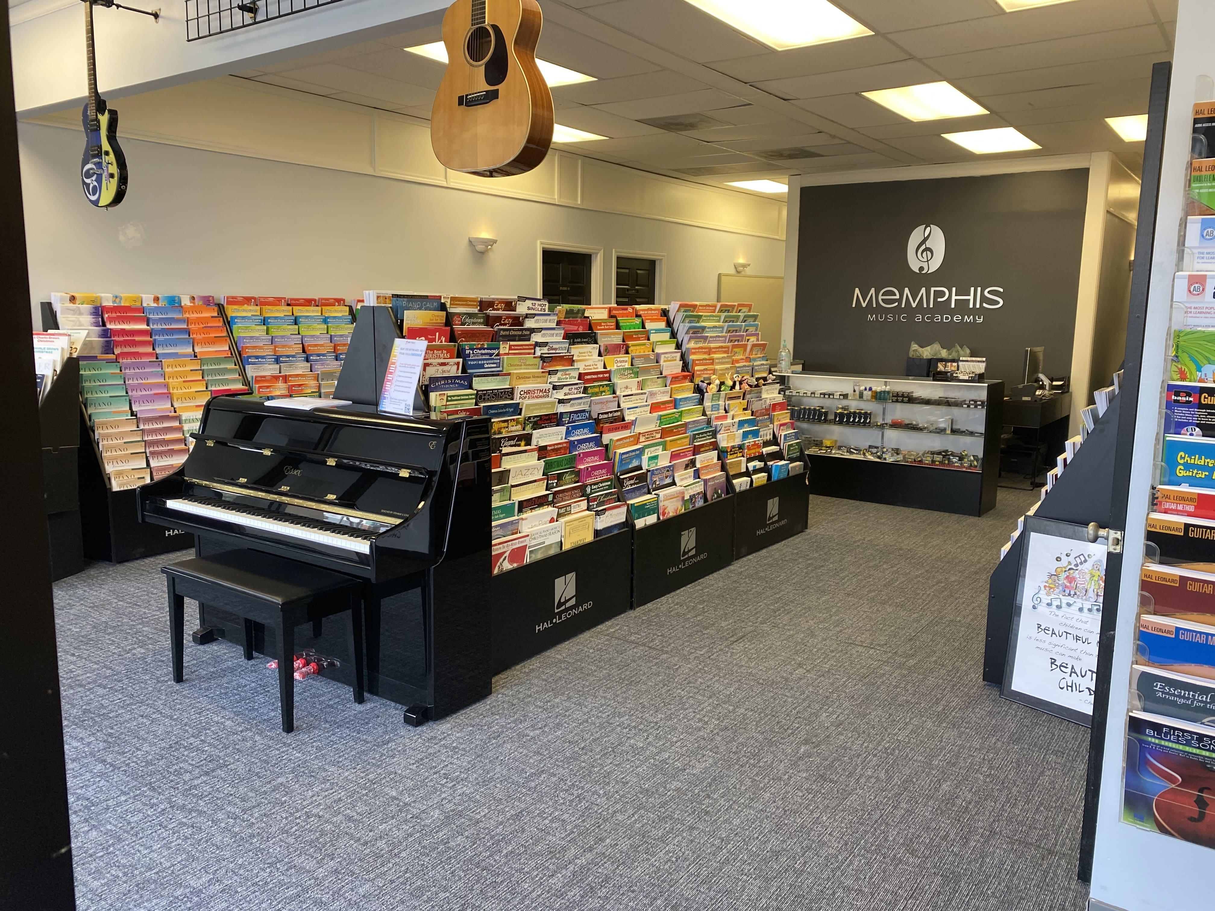 Interior photo of the Memphis Music Academy lobby