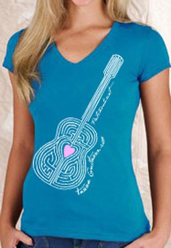 Tshirt Women's V-neck TEAL