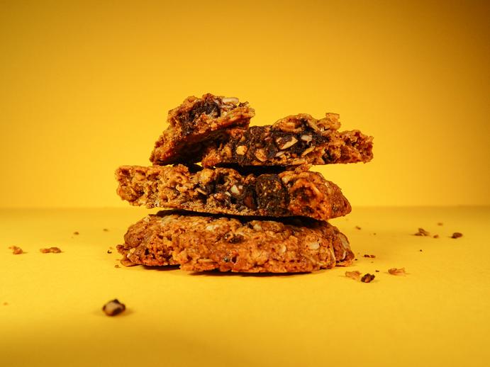 a vegan and gluten free dark chocolate cookie