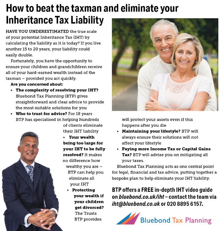 Bluebond tax planning featured on the Times