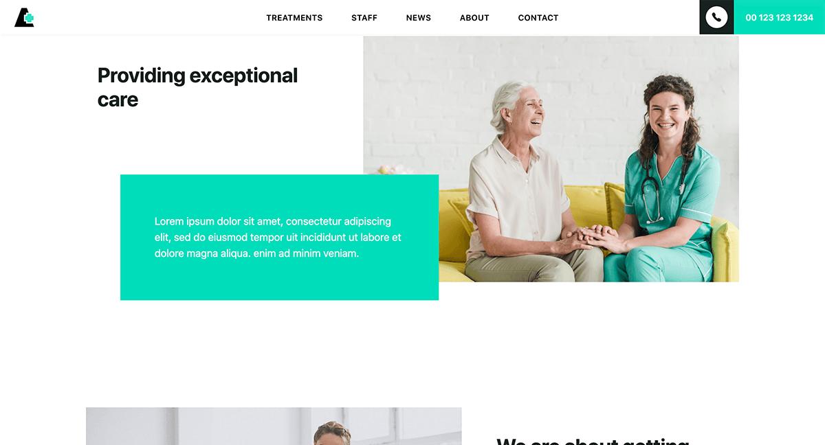 Website für Arztpraxis