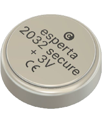 CR 2032 2450 secure battery