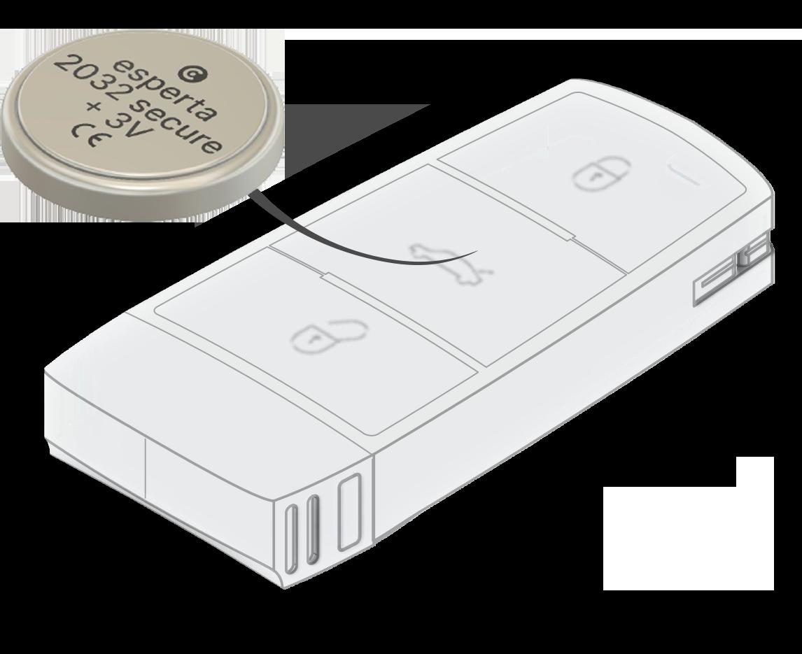 Esperta Key Keyless Protection Schlüssel