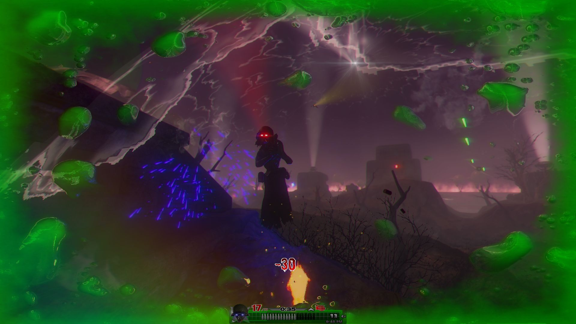 Goblin shot by Wraith
