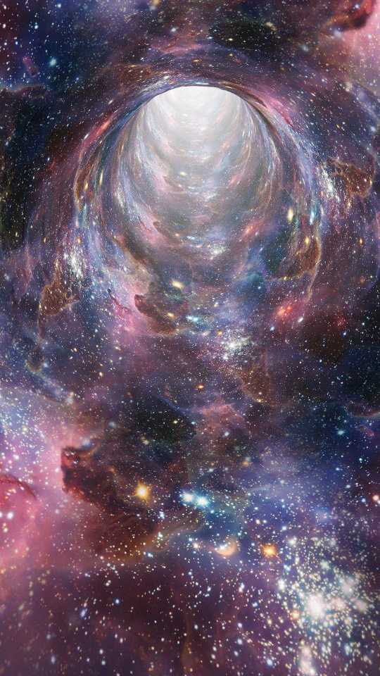 space, wormhole background