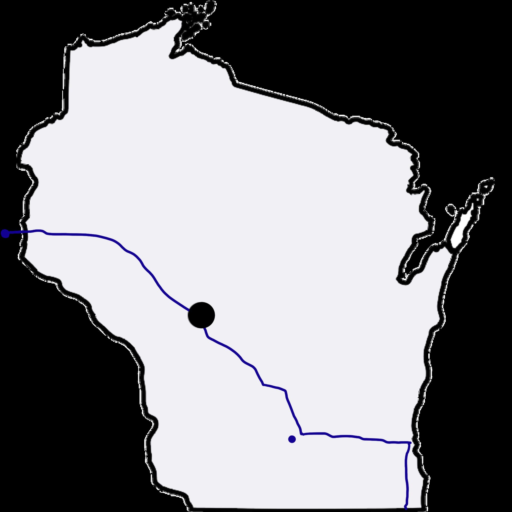 Black River Falls, Wisconsin map