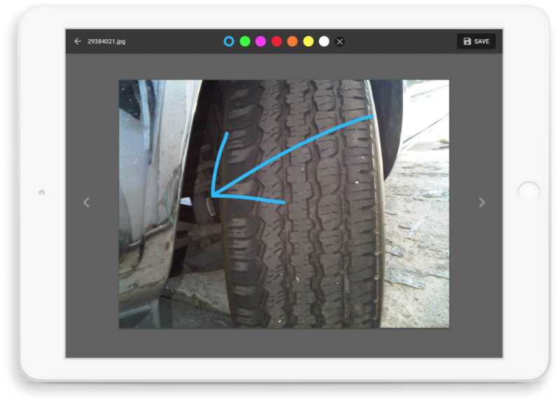 Digial vehicle inspection on tablet