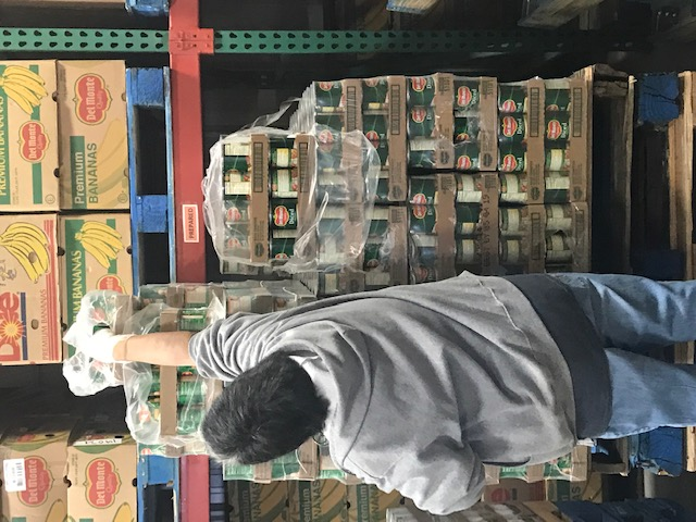a volunteer in BMAC's food bank