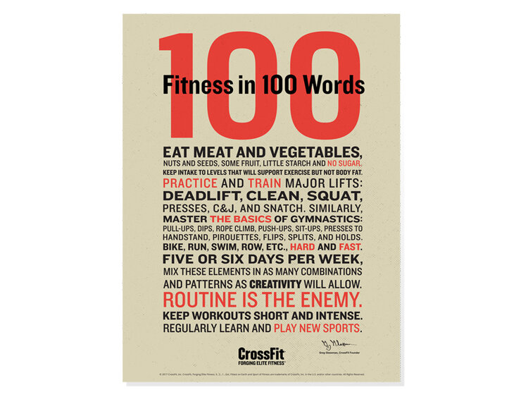 Fitness in 100 words as defined by CrossFit founder Greg Glassman.
