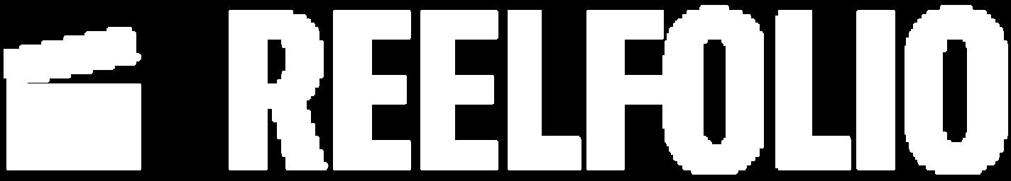 Reelfolio logo white transparent