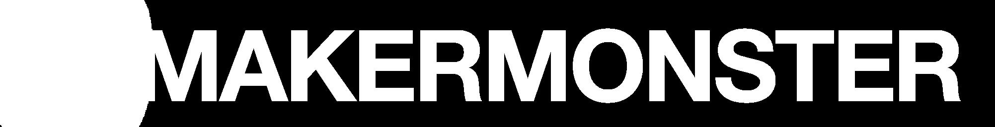 MAKERMONSTER logo white transparent