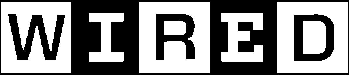 WIRED logo white transparent