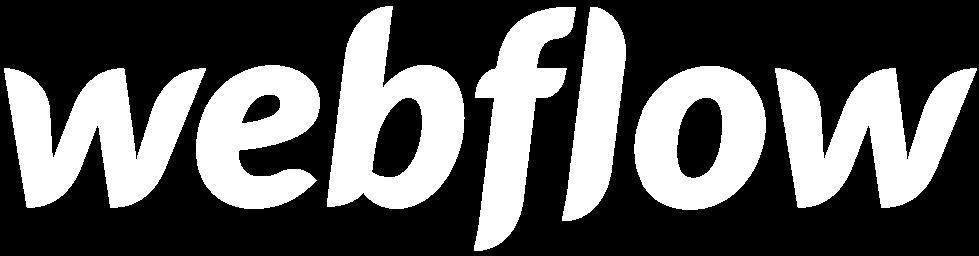 Webflow logo white transparent