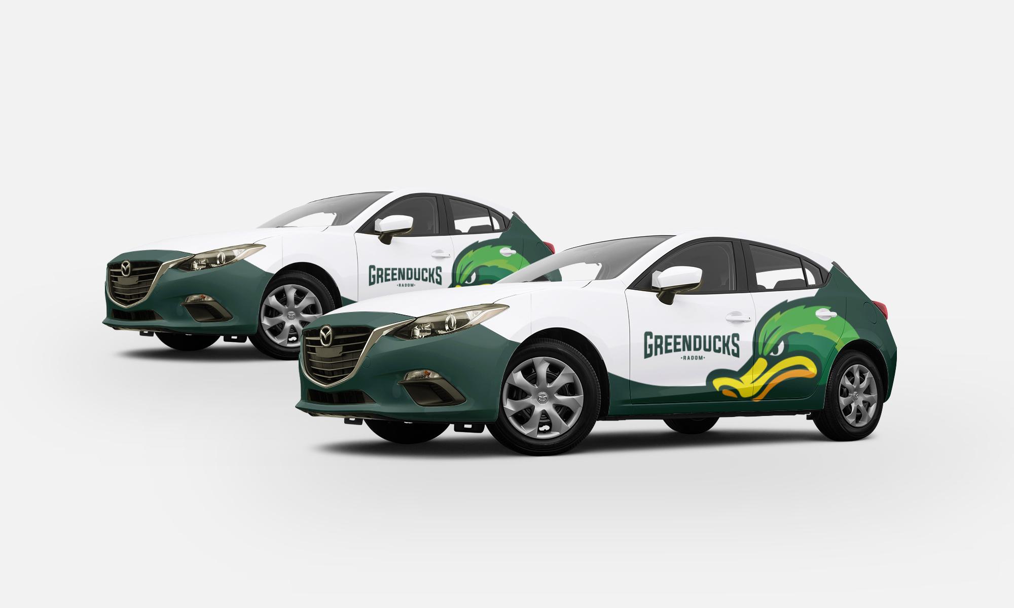 Projekt znakowania auta green ducks