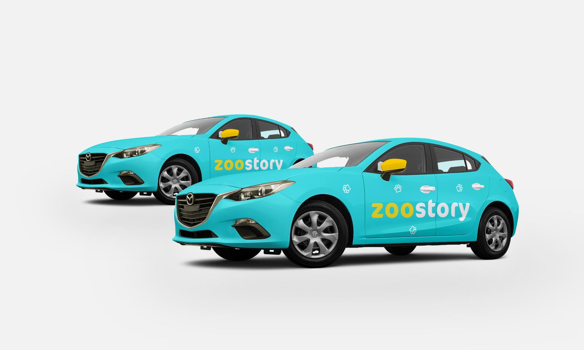 Projekt graficzny znakowania auta zoostory