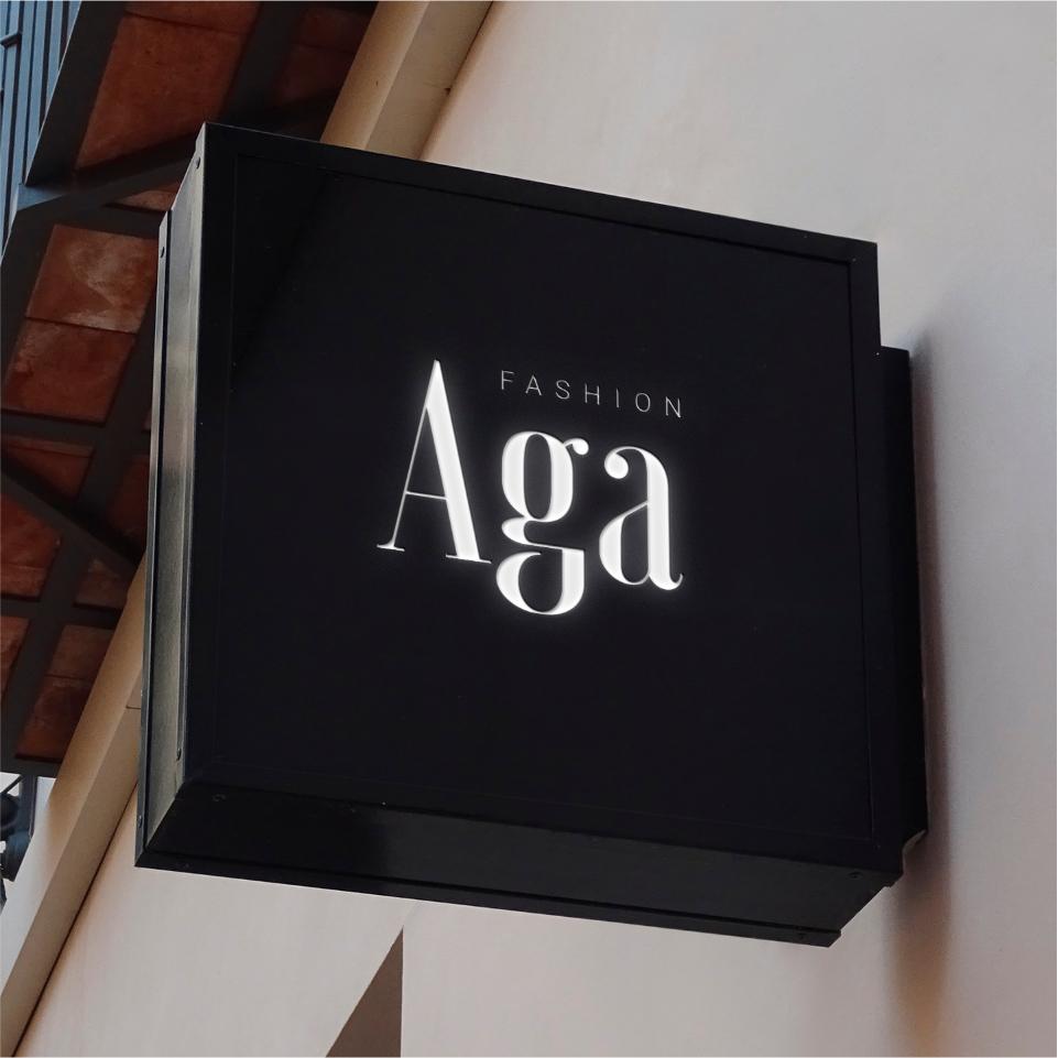 Projekt logo Aga fashion