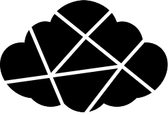 The Pop Web Designs logo. A cloud with lines running through it.